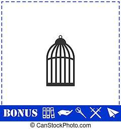 Bird cell icon flat
