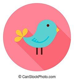 Bird Circle Icon