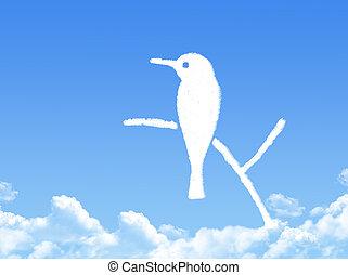 bird cloud shape