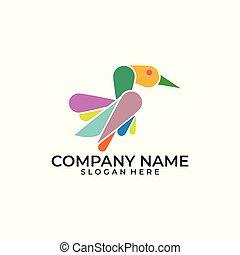 Bird color Concept illustration vector Design template