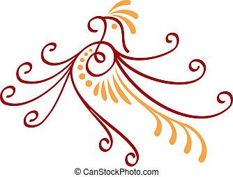 Bird decorative icon