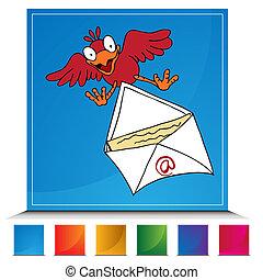 Bird Delivering Email Button Set