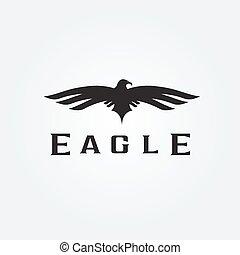 Bird eagle abstract vector design template
