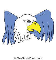 bird eagle hawk falcon with wings for tattoo drawing cartoon...