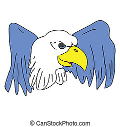 bird eagle hawk falcon with wings for tattoo drawing cartoon...