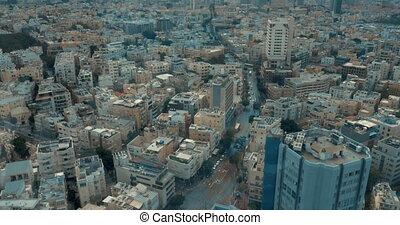 Bird eye view cityscape of Tel Aviv, Israel - Aerial view of...