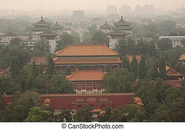 Bird eye view of Beijing, China