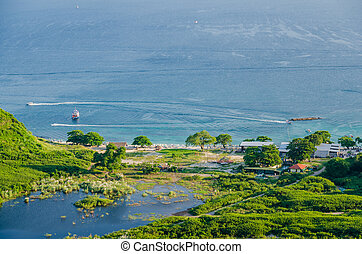 Bird eye view of Nual Beach