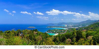 Bird eye view of Phuket, Thailand - Bird eye view of Phuket,...