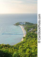 Bird eye view of Samae Beach