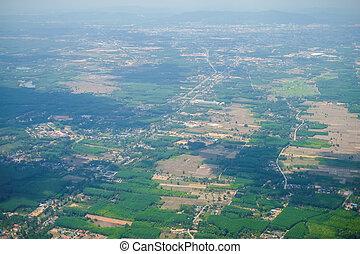 bird eye view town