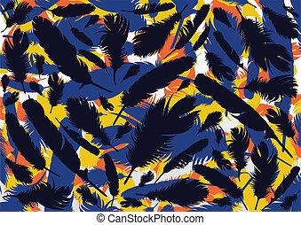 Bird feathers background illustration
