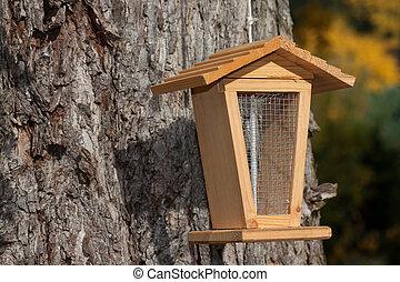 Bird feeder on a tree