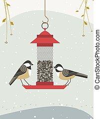Bird feeding poster