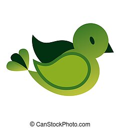 Bird flat color illustration on white