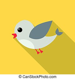Bird flat icon. Illustration for web and mobile design.