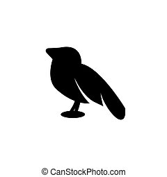 bird flat icon vector illustration