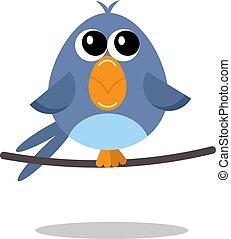bird flat vector