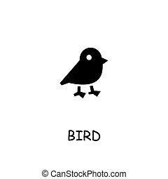 Bird flat vector icon