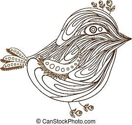 bird florals hand drawn