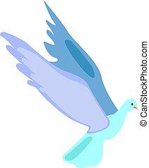 Bird flying, illustration, vector on white background.