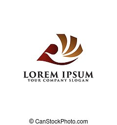 bird flying logo. luxury design concept template