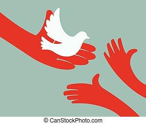 Bird giving