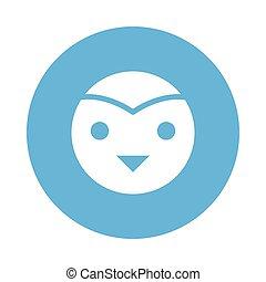 bird glyps color circle icon