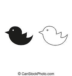 bird - green vector icon