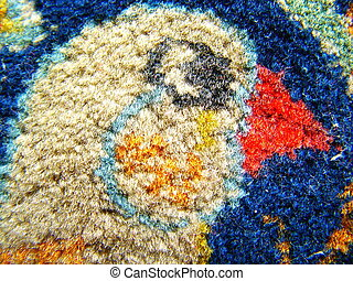 Bird head - persian rug detail