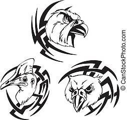 bird head tattoo