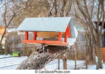 Bird house feeder