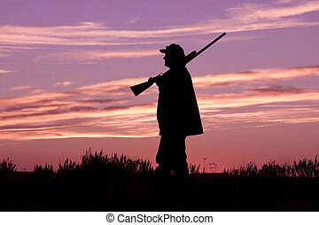 Bird Hunter in Sunrise