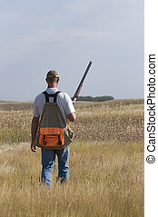 Bird Hunting - Bird hunting out on the prairie
