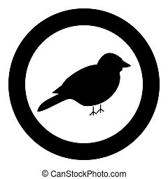 Bird icon black color in circle