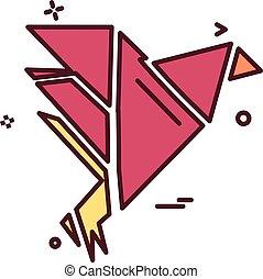 Bird icon design vector