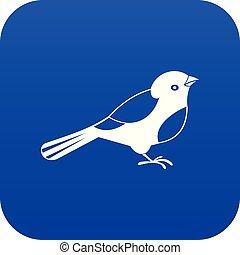 Bird icon digital blue