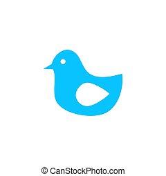 Bird icon flat.