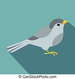 Bird icon, flat style