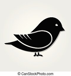 Bird icon isolated on white background. Vector illustration