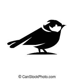 Bird icon on a white background