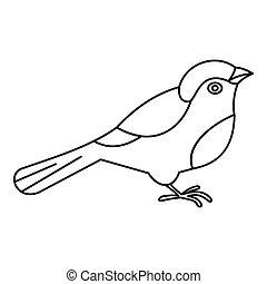 Bird icon, outline style