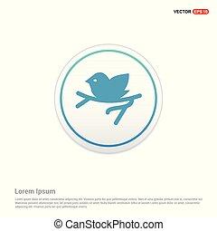 Bird Icon - white circle button