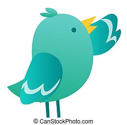 Illustration of Twitter Bird isolate on white background