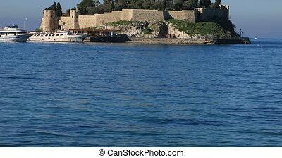 Bird island castle in Kusadasi Turkey