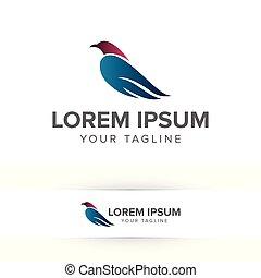 bird logo design concept template