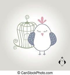 bird logo, icon and symbol vector illustration