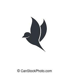 Bird logo template vector icon illustration