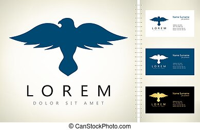 Bird logo vector. Animal illustration.
