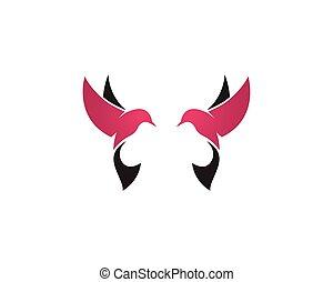 Bird logo vector template